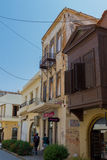 Rethymno, Greece - August  2, 2016:  Buildings in old town. Royalty Free Stock Photography