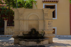 Rethymno, Greece - August  2, 2016: The old fountain. Royalty Free Stock Photos