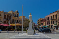 Rethymno, Greece - August  1, 2016:  The Statue of the Unknown S Royalty Free Stock Photography