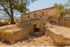 Rethymno, Greece - July  30, 2016:  Embrasures in Fortezza Castl Stock Photos