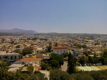 Rethymno, Greece - July  30, 2016: Panoramic view to Rethymno fr Stock Photography