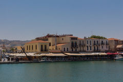 Rethymno, Greece - July  30, 2016: Venetian harbour. Stock Photos