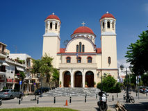 RETHYMNO, GREECE - JULY 7: Church of Four Martyrs  Stock Photography