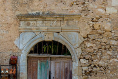 Rethymno, Greece - July  30, 2016:  Old archway portal. Stock Image