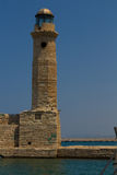 Rethymno, Greece - July  30, 2016: The old lighthouse. Royalty Free Stock Photos