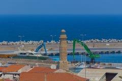 Rethymno, Greece - July  31, 2016: Rethymno sea port Royalty Free Stock Images