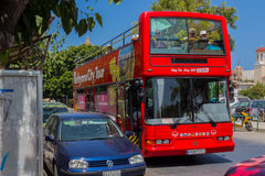 Rethymno, Greece - July  31, 2016: Touristic bus. Royalty Free Stock Image