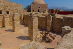 Rethymno Grekland - Juli 30, 2016: Komplexet av tidskrifter in Royaltyfri Fotografi