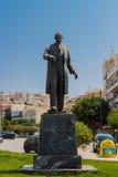 Rethymno Grekland - Juli 31, 2016: Skulptur av Eleftherios Veni Arkivfoto
