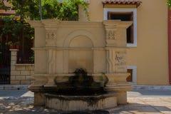 Rethymno, Griechenland - 2. August 2016: Der alte Brunnen Lizenzfreie Stockfotos