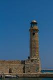 Rethymno, Griechenland - 30. Juli 2016: Der alte Leuchtturm Stockfotografie