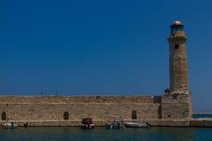 Rethymno, Griechenland - 30. Juli 2016: Der alte Leuchtturm Lizenzfreie Stockbilder