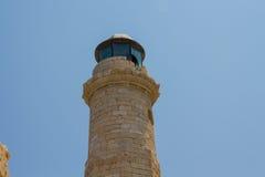 Rethymno, Griechenland - 30. Juli 2016: Der alte Leuchtturm Stockfotos