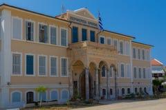 Rethymno, Griekenland - Augustus 4, 2016: De bouw van de Prefectuur royalty-vrije stock afbeeldingen