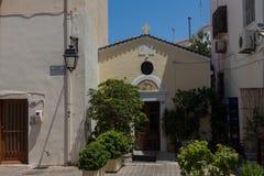Rethymno, Griekenland 28 juli, 2016: De kerk van heilige Anthony Royalty-vrije Stock Fotografie
