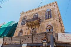 Rethymno, Griekenland 26 juli 2016: De oude bouw in Oude Stad van Re Stock Foto's