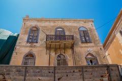 Rethymno, Griekenland 26 juli 2016: De oude bouw in Oude Stad van Re Royalty-vrije Stock Afbeelding