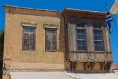 Rethymno, Griekenland 26 juli 2016: De Oude Stad Stock Fotografie