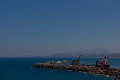 Rethymno, Griekenland 26 juli, 2016 De zeehaven van Rethymno Royalty-vrije Stock Afbeelding