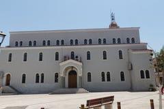 Rethymno, Griekenland 28 juli, 2016: Metropolitaanse kerk Stock Foto's