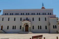 Rethymno, Griekenland 28 juli, 2016: Metropolitaanse kerk Royalty-vrije Stock Foto's