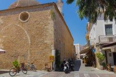 Rethymno, Griekenland 26 juli 2016: Middeleeuwse Moskee Stock Afbeelding
