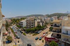 Rethymno, Griekenland - Juli 31, 2016: Panorama aan Rethymno Stock Afbeeldingen