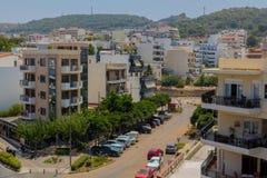 Rethymno, Griekenland - Juli 31, 2016: Panorama aan Rethymno Royalty-vrije Stock Fotografie
