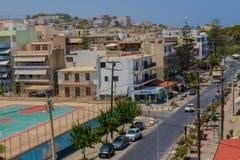 Rethymno, Griekenland - Juli 31, 2016: Panorama aan Rethymno Royalty-vrije Stock Foto's