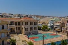 Rethymno, Griekenland - Juli 31, 2016: Panorama aan Rethymno Royalty-vrije Stock Afbeelding