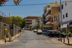 Rethymno, Griekenland - Juli 31, 2016: Panorama aan Rethymno Stock Afbeelding
