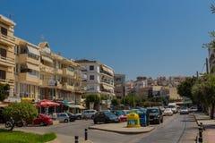Rethymno, Griekenland - Juli 31, 2016: Panorama aan Rethymno Royalty-vrije Stock Foto