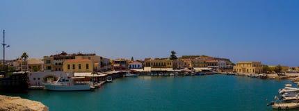 Rethymno, Griekenland - Juli 30, 2016: Panorama aan Rethymno F Stock Fotografie