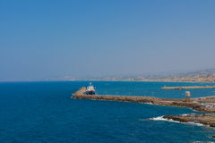 Rethymno, Griekenland - Juli 30, 2016: Panorama aan Rethymno Fr Royalty-vrije Stock Afbeelding