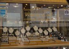 Rethymno, Griekenland 26 juli 2016: Shopwindow Royalty-vrije Stock Afbeelding