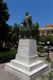 Rethymno, Griekenland 28 juli, 2016: Standbeeld van Kostis Giampoudakis Royalty-vrije Stock Afbeelding