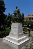 Rethymno, Griekenland 28 juli, 2016: Standbeeld van Kostis Giampoudakis Stock Afbeelding