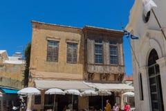 Rethymno, Griekenland 26 juli 2016: Straatwinkels Stock Afbeeldingen