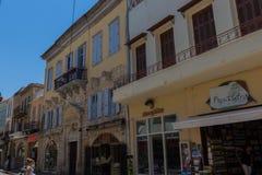 Rethymno, Griekenland 26 juli 2016: Straatwinkels Royalty-vrije Stock Afbeelding