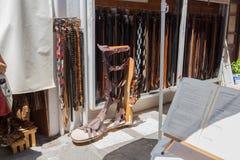 Rethymno, Griekenland 26 juli 2016: Straatwinkels Royalty-vrije Stock Fotografie