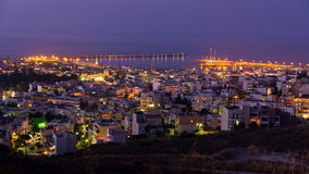 Rethymno harbor at twilight, island of Crete Stock Photo