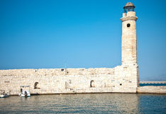Rethymno lighthouse stock photography