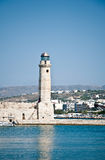 Rethymno lighthouse royalty free stock photo