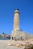 Rethymno lighthouse, Crete. Royalty Free Stock Photography