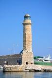 Rethymno lighthouse, Crete. Stock Image