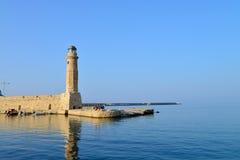 Rethymno lighthouse landmark Stock Images