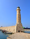 Rethymno lighthouse landmark Royalty Free Stock Photos