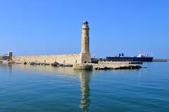 Rethymno lighthouse landmark Royalty Free Stock Photography