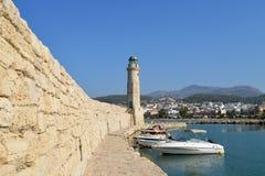 Rethymno lighthouse landmark Royalty Free Stock Photo