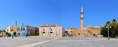 Rethymno Mosque Neratzes panorama Royalty Free Stock Photo